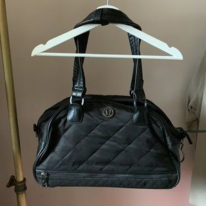 Lululemon Quilted Duffle/Gym/Carry-On/Diaper Bag Black